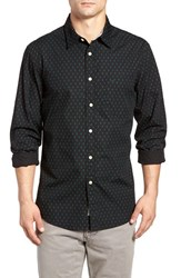 Dockersr Men's Dockers Fitted Washed Print Woven Shirt Vance Black
