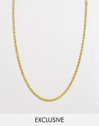 Reclaimed Vintage Gold Rope Chain Necklace 4Mm Gold