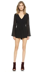 Re Named Bell Sleeve Romper Black
