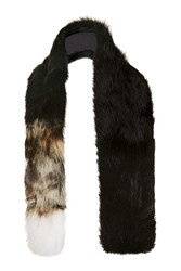 Topshop Faux Fur Shawl Black