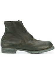 Guidi Ankle Length Military Boots Green
