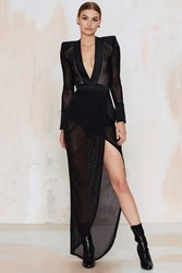 Nasty Gal Zhivago Eye Of Horus Sheer Slit Dress