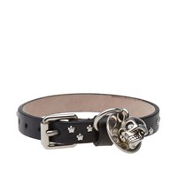 Alexander Mcqueen Studded Skull Leather Bracelet Black