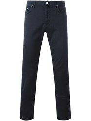 Versace Collection Classic Trousers Blue