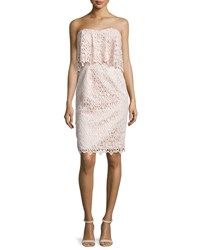 Black Halo Strapless Popover Lace Cocktail Dress Ballet Pink