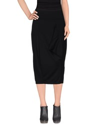 Malloni Skirts 3 4 Length Skirts Women Black