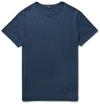 Theory Gaskell Slim Fit Melange Modal Blend Jersey T Shirt Navy