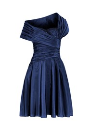 Anoushka G Monica 1950 S Gathered Dress Blue