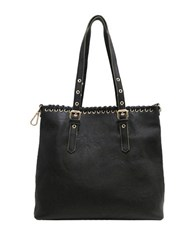 Chinese Laundry Harper Faux Leather Whipstitch Tote Black