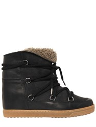 Isabel Marant Etoile 70Mm Nowles Suede Shearling Boots