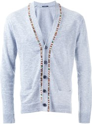 Guild Prime Beaded Fastening Button Down Cardigan Blue