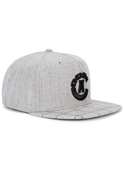 Crooks And Castles Grey Embroidered Twill Cap