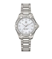 Tag Heuer Aquaracer Diamond Dial 32Mm Watch Unisex Ivory