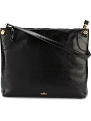 Hogan Top Zip Shoulder Bag Black