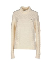 Bikkembergs Knitwear Turtlenecks Women Ivory