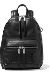 Rick Owens Woman Zaino Textured Leather Backpack Black