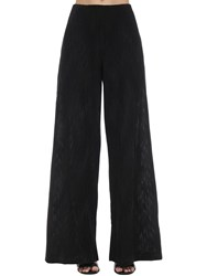 M Missoni Flared Intarsia Lurex Knit Pants Black