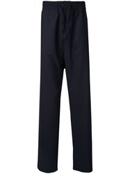 Band Of Outsiders Formal Drawstring Trousers Blue