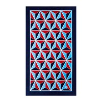 Jonathan Adler Versailles Studs Beach Towel Red Blue