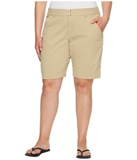 Columbia Plus Size Saturday Trail Long Short British Tan Women's Shorts