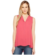 B Collection By Bobeau Lily Pleat Back Woven Tank Top Raspberry Women's T Shirt Pink