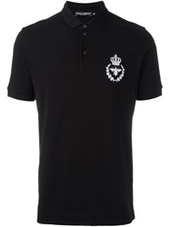 Dolce And Gabbana Logo Polo Shirt Black