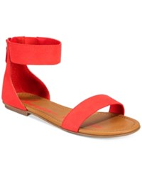 4d5b4a89a1f American Rag Keley Two Piece Flat Sandals Created For Macy s Women s Shoes  Red Coral