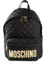 Moschino Quilted Logo Backpack Black
