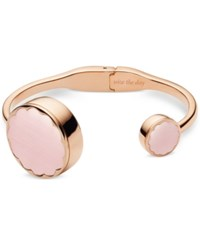 Kate Spade New York Women's Rose Gold Tone Stainless Steel Hinge Half Bangle Bracelet Activity Tracker 26Mm Ksa31214
