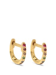 Ileana Makri Diamond Multi Stone And Yellow Gold Earrings