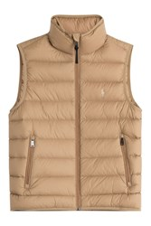 Polo Ralph Lauren Quilted Down Vest Brown