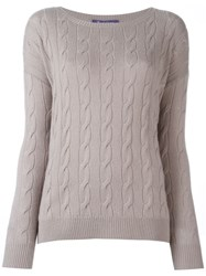 Ralph Lauren Cable Knit Sweater Pink And Purple