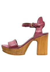 Mjus Florida High Heeled Sandals Bordo Bordeaux