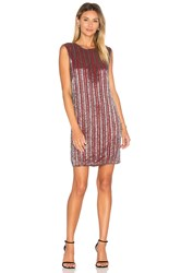 Ganni Humphrey Beads Shift Dress Burgundy