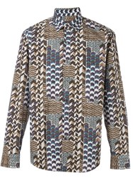 Salvatore Ferragamo Printed Shirt Multicolour