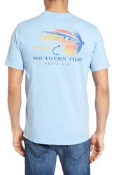 Southern Tide Men's Gotta Fly Graphic T Shirt Sky Blue