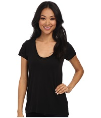 Splendid New Basic Tee Black Women's T Shirt