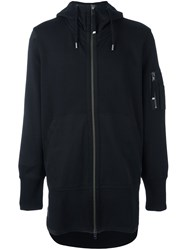 Diesel Black Gold 'Sissimy' Long Length Hoodie Black