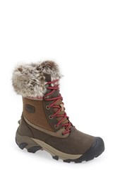 Keen Women's 'Hoodoo Iii Low' Faux Fur Trim Waterproof Boot
