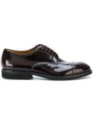 Premiata Brogue Derby Shoes Leather Patent Leather Rubber 42.5 Brown