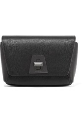 Akris Anouk Little Day Textured Leather Shoulder Bag Black