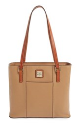 Dooney And Bourke 'Small Lexington Pebble Grain Collection' Water Resistant Leather Shopper Brown Desert