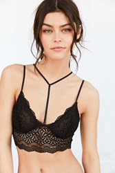 Urban Outfitters Lace Bra With Removable Strap Black