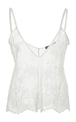 Lana Mueller Flora Scalloped Lace Tank Top Green