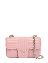 Prada Small Quilted Soft Leather Flap Bag Light Pink