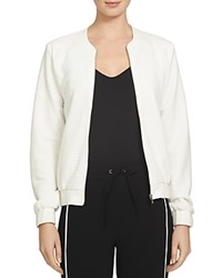 1.State Textured Grid Bomber Jacket New Ivory