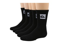 Quiksilver Legacy Crew 5 Pair Pack Big Kids Black Men's Crew Cut Socks Shoes