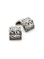 John Hardy Woven Bamboo Cuff Links No Color