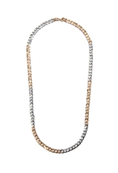 Forever 21 Curb Chain Necklace Gold Silver