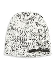 Michael Michael Kors Belted Marled Knit Beanie Grey